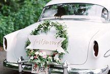 Ślub - dekoracja auta