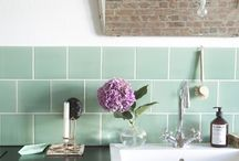 Pastel Splashbacks / Pretty candy colours add a touch of softness to your kitchen scheme.