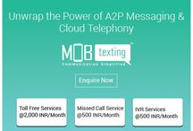 MOBtexting / MOBtexting owned by 3m Digital Networks Pvt. Ltd. is one of the growing and premier provider of A2P Messaging & Cloud Telephony service in India. Since its commencement in the year 2012, it has appeared as a front runner in providing A2P & Cloud Telephony solution.  The MOBtexting Messaging Platform (SMS Gateway) assists enterprises to send messages securely to all mobile devices across complexity and data types.