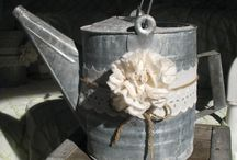 Watering can wedding decor