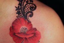 Zwart kant tattoeage