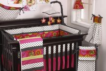 Tula / Tula is a beautiful combination of bright floral and dot fabrics accented with black dot ties.  All Tula fabrics are 100% cotton.  This pattern is sophisticated and fun. A perfect baby bedding ensemble for bright nursery for your new baby girl. http://www.cottontaledesigns.com/collections/tula.html