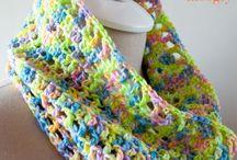 Crochet shawls, cowls, scarfs etc