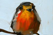 Cute birds / Oil