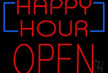Happy Hour Open Neon Signs
