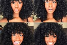 BossB Curls / creative hairstyles you can use with BossB curls