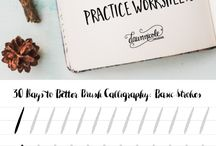 Brush Lettering / Basic instructions and worksheets. I'm giving brush lettering a try! Wish me luck!