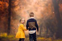 őszi gyerek fotók