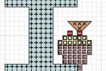 Free Cross stitch alphabet / Free Cross stitch patterns for alphabets