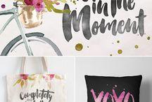 Brushed & Blush / Brush strokes, hand-written swirls, and design inspiration