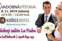 Svadobná výstava KošiceHotel 8.11.2014 / Srdečne Vás pozývame na svadobnú výstavu v KOŠICEHOTEL, ktorá sa uskutoční v sobotu 8. 11. 2014 (9.00 - 18.00) Teší sa na Vás aj svadobný salón La Fiaba, www.LaFiaba.sk alebo www.facebook.com/SalonLaFiaba.