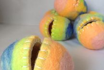 Wool felted eggs / Wet felted Easter eggs.