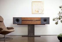 Speaker console/free standing media console