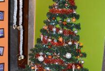 Wisząca choinka/Hanging Christmas tree / Pomysł na powieszenie choinki/The idea for hanging Christmas tree www.ciekawewnetrza.blox.pl