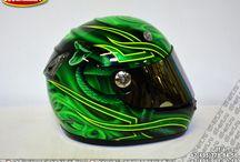 Аэрография на шлемах