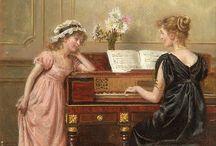 piano lesson in art