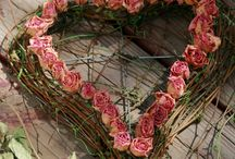 sušené květy a věnce