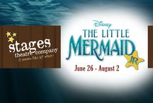 """Disneys The Little Mermaid Jr / Disney's The Little Mermaid JR. JUNE 26, 2015 - AUGUST 2, 2015 All Ages All the magic from the Disney Classic. Join Ariel, King Triton, Prince Eric, Sebastian, Scuttle, Flounder, Grimsby, and of course, the villainous Ursula, as Stages Theatre Company presents our production of one of Disney's most beloved stories. You'll cheer the music, as """"Under the Sea"""" and """"Part of Your World"""" set the stage, while Ursula bemoans those """"Poor Unfortunate Souls"""" and Sebastian urges Eric to """"Kiss the Girl."""""""