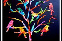 oiseaux sur arbre