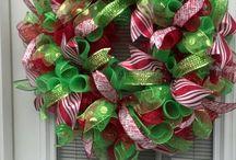 Deco mesh wreaths