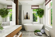 Feng Shui Bathroom / Feng Shui is the an ancient Chinese belief that the way your house is built or the way that you arrange objects affects your success, health, and happiness. Its principles can be applied all through the house and not least in the bathroom.
