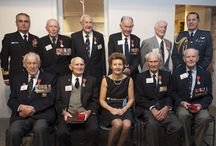 Legion of Honour Medal Presentation / On Tuesday, 14 April 2015 eight New Zealand Veterans were awarded the French Legion of Honour by the French Ambassador to New Zealand H.E. Mrs Florence Jeanblanc-Risler at ceremony held at the National Mueseum of the Royal New Zealand Navy. These 8 were identified as having engaged in a significant role in the liberation of France during the Second World War.