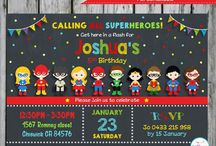 Superhero invites