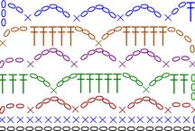 Crochet symbol and graph patterns.