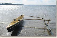 piroga da pesca -in vetroresina