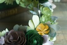 ghirlande con fiori di carta