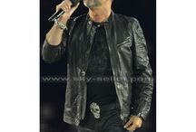 Pay Tribute to George Michael / By wearing this George Michael 2012 Olympics Black Leather Jacket, show your praise for the beloved singer.