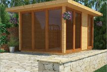 Timber Park Homes / These large garden/outdoor buildings can just as easily be used as park homes, holiday accommodation or home-from-home additional living space. High spec too, by Gembuild.