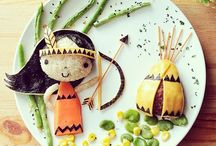 Thanksgiving - Cute Food, Tablescapes; Recipes and Crafts for Kids / Lots of ideas and inspiration on recipes, printables, party ideas, tablescape and table decor and crafts that kids can either help to make or that parents can help them make for Thanksgiving.
