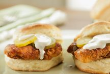 Hot chicken biscuit sandwich