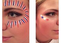 Game Day Fashion Extras / face paint, great hair styles  Spirit and Pride
