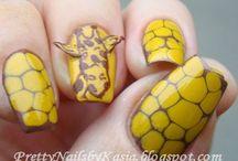 Animal print nails - Uñas diseño de animales / Nails with animal print deign - Uñas decoradas con diseños de animales