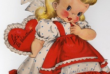 Vintage Valentine cards / Cold and snowy February Does seem slow and trying, very. Still, a month made gay by Cupid Never could be wholly stupid. ~Louise Bennett Weaver and Helen Cowles LeCron