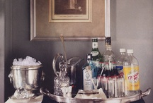 Bars / A board devoted to the display and arrangement of libations, tasty drinks, and their friends.