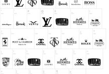 Black and white logotypes