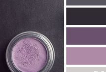 Bedroom Inspiration / Colors of my bedroom: Plum, Gray, Black, White, Cream,Soft mint