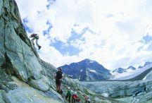 Klettern im Pitztal / Die Pitztaler Bergwelt erklimmen und die Tiroler Alpen von ihrer schönsten Seite erleben! Klettern mit Gletscherblick im Pitztal... / by Pitztal Tirol