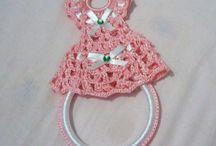 porta strofinacci/asciugamani crochet