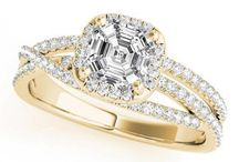 Halo Ring Collection / Our brilliant collection of Diamond Halo Engagement rings features GIA certified diamonds surrounding a dazzling centerpiece. These stunning, one-of-a-kind pieces are sure to take your bride's breath away.