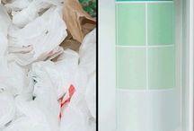 Organização de sacolas plásticas