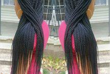 Braids / Box braids, Senegalese twist, Marley braids, Mambo twist, pre twist, Havana twist