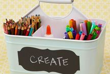 Kids Craft supply storage