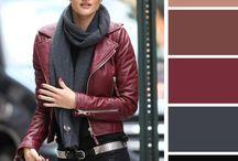 бордо и серый в одежде