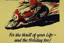affiche vintage moto