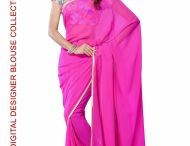 Semi Pure Georgette Saree with Digital Print Blouse