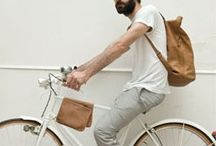 Man + bycicle